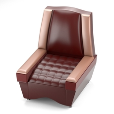 Classical chair in red 3D Model