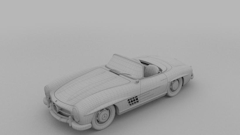 Mercedes 300SL Roadster W198 3D Model