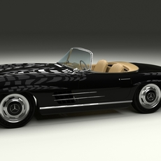 Mercedes 300SL Roadster W198 3D Model