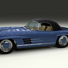 Mercedes 300SL Roaster Top 3D Model