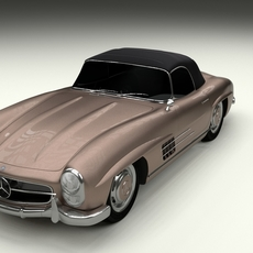 Mercedes 300SL Roadster Top Up 3D Model