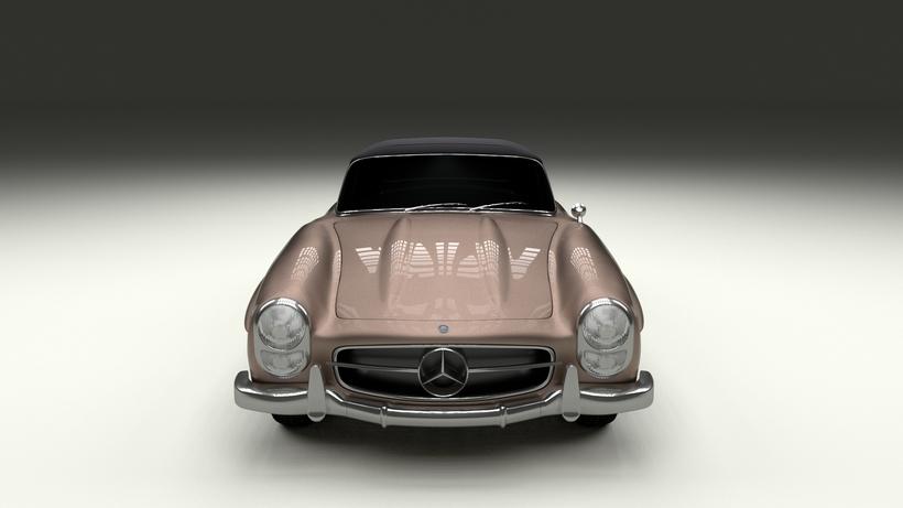 Mercedes 300SL Roadster Top Up 3D Model