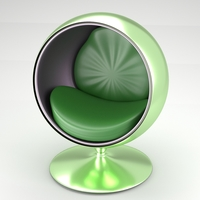 Spherical modern chair 3D Model