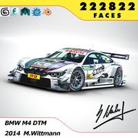 BMW M4 DTM 2014 / 2015 3D Model