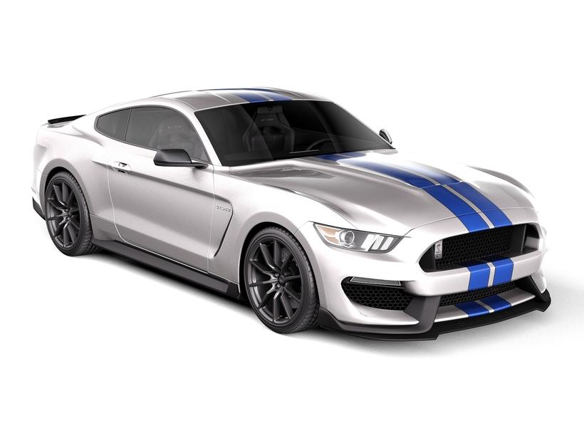 Ford Mustang GT350 Shelby Cobra 2016 3D Model