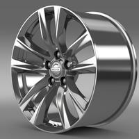 Nissan Fuga Hybrid rim 2015 3D Model