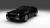 Porsche 944 turbo with interior 3D Model