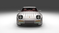 Porsche 944 Turbo S with interior 3D Model