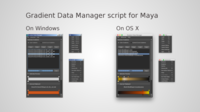 Gradient Data Manager script for Maya for Maya 1.1.1 (maya script)