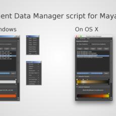 Gradient Data Manager script for Maya 1.1.1 for Maya (maya script)