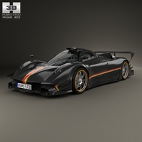 Pagani Zonda Revolucion 2014 3D Model