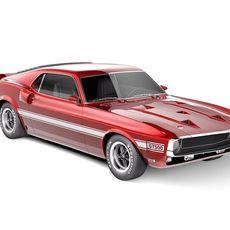 Ford Mustang Shelby Cobra GT500 1969 3D Model