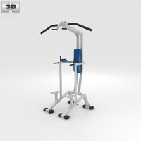 Vertical Power Rack Pull-Ups 3D Model