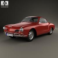 Volkswagen Karmann Ghia 1955 3D Model