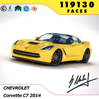 Corvette C7 Stingray 2014 3D Model
