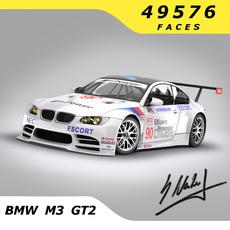 BMW M3 GT / GT2 / GT3 3D Model