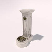 Concrete Watertap Column 3D Model