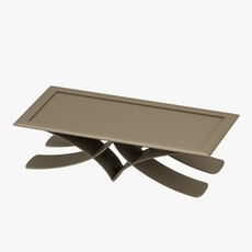 Brown table in metal 3D Model
