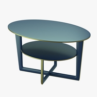 Modern table with two levels 3D Model