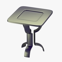 Modern table with metallic look 3D Model