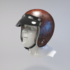 09 55 45 813 helmet motorcycle oldschool retro caferacer leather10 4