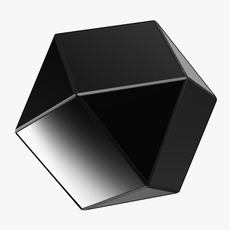 Matty Mirrored Polygon Side Table 3D Model