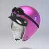 09 59 49 51 helmet motorcycle oldschool retro caferacer pink 4