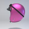 09 59 51 36 helmet motorcycle oldschool retro caferacer pink0 4