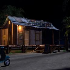 Beach Night 3D Model