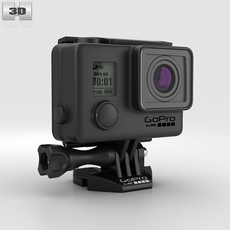 GoPro HERO3+ Blackout Housing 3D Model
