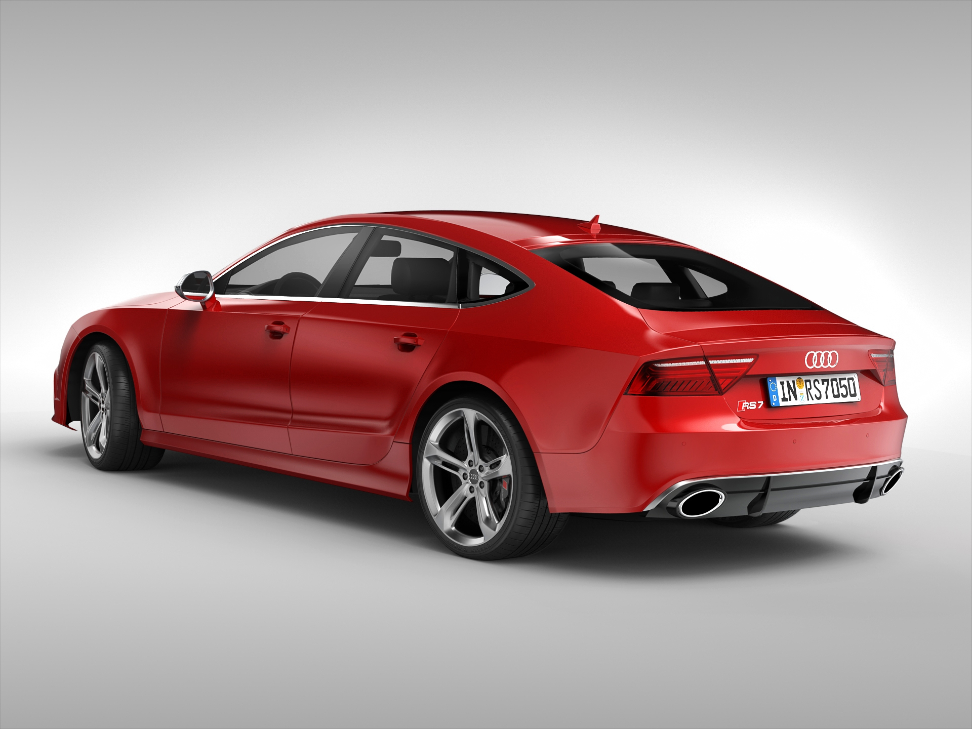 audi rs7 sportback 2015 3d model. Black Bedroom Furniture Sets. Home Design Ideas