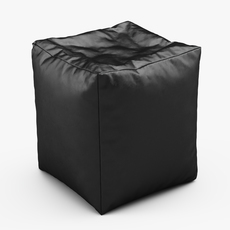 CUBE Bean Bag Faux Leather BLACK 3D Model