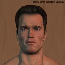 Arnold Schwarzenegger body Hair and Fur 3D Model