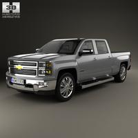 Chevrolet Silverado Crew Cab High Country 2014 3D Model