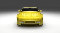 Porsche 944 Cabrio with interior 3D Model