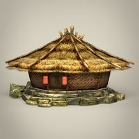 Fantasy Hut 3D Model