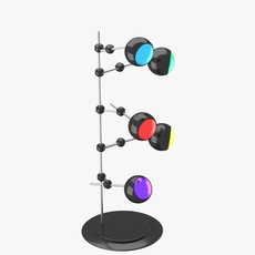 Modern floor lamp with five lights 3D Model