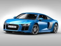 Audi R8 V10 Coupe (2016) 3D Model