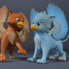 Baby Griffin Rigged 3D Model