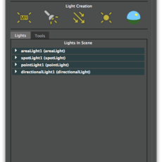 Simple Lights GUI for Maya 1.0.0 (maya script)