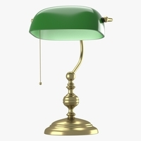 Lamp with green dome 3D Model