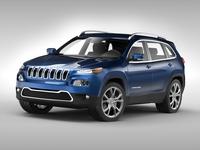 Jeep Cherokee (2014) 3D Model