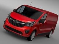 Opel Vivaro L2H1 LWB 2015 3D Model