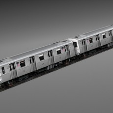 R160 Train New York City Subway 3D Model