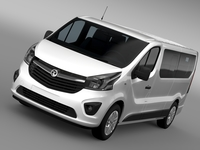 Vauxhall Vivaro Window Van 2015 L2H1 3D Model