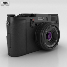 Fujifilm FinePix X100S Black 3D Model