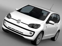 VW UP 3 door 2015 3D Model