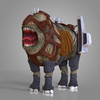 Monster Dog 3D Model