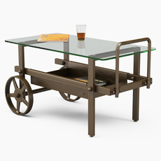 Serving tables Robers Indoor 3D Model