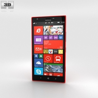 Nokia Lumia 1520 Red 3D Model